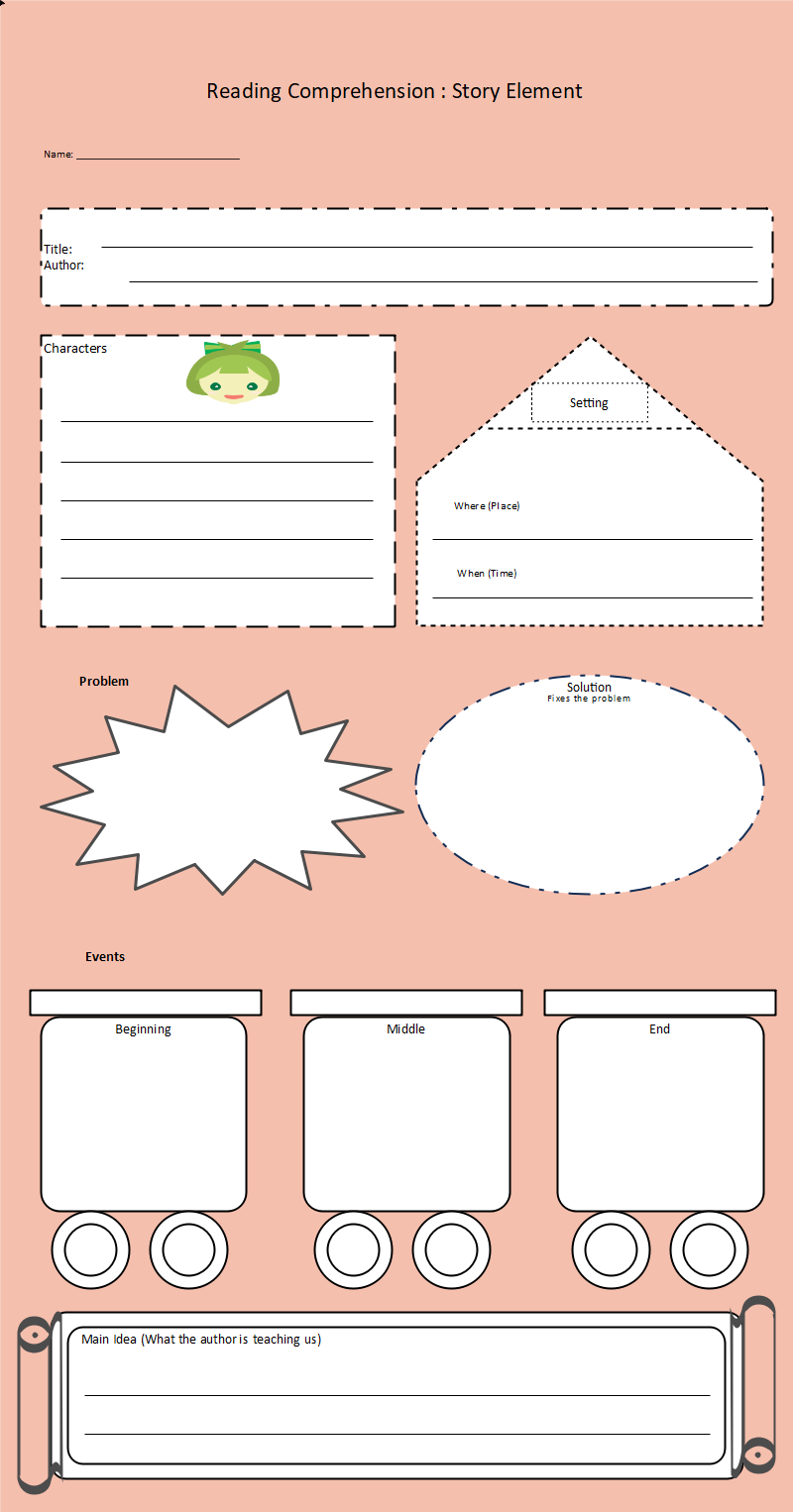 Story Elements Graphic Organizer Example