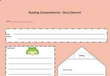 Story Elements Graphic Organizer Template