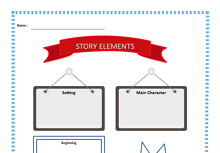 Story Elements Graphic Organizer Middle School