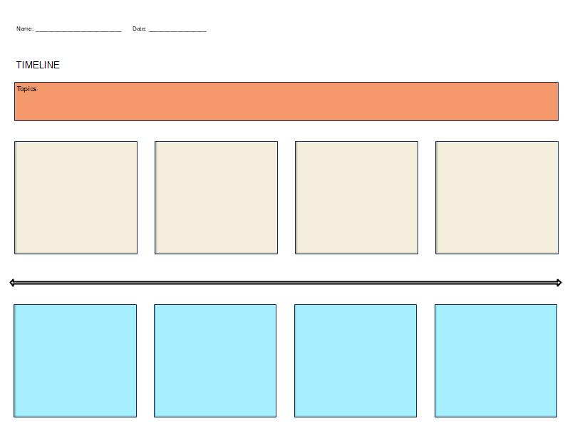 Horizontal Timeline Graphic Organizer