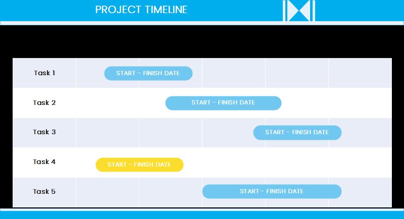 Horizontal Timeline Infographic