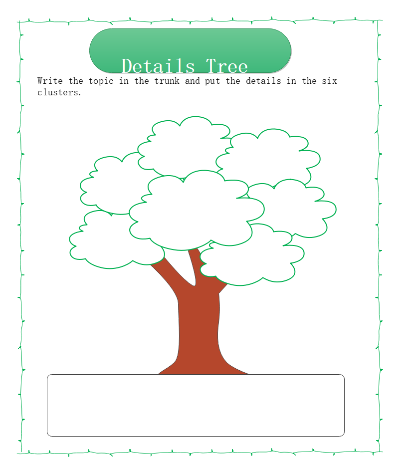 Details Tree Map Graphic Organizer