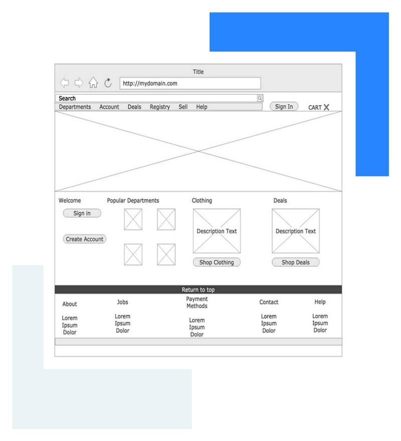 Webiste Wireframe Example