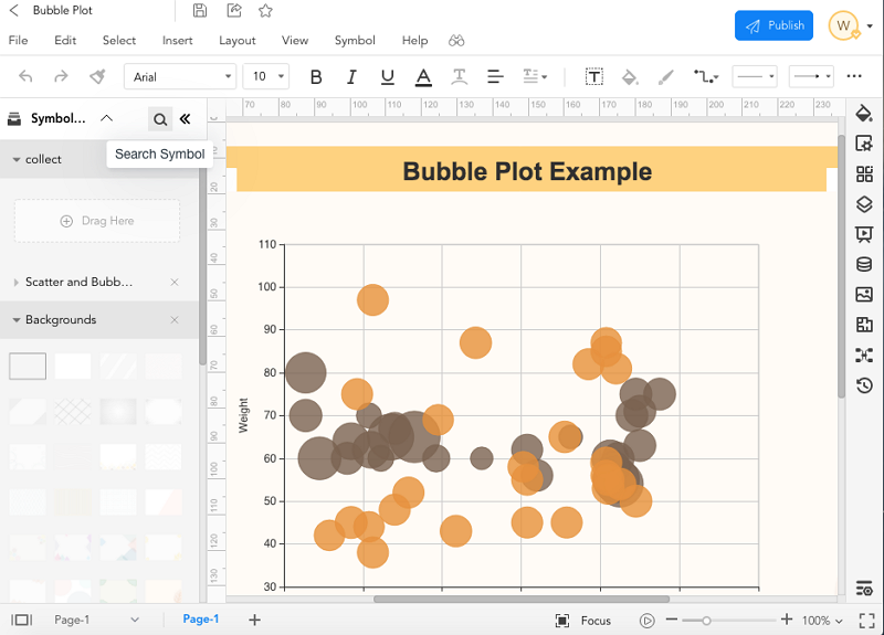 How to create a bubble chart