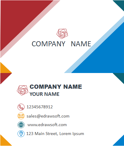 Business Card Outlook Template