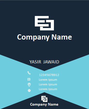 Business Card Template Photoshop