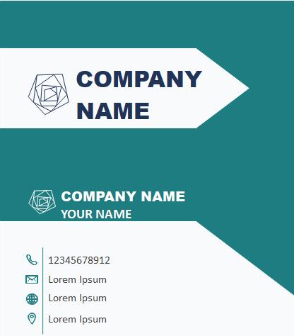 Business Card Print Template