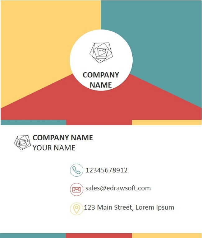 Business Card Word example