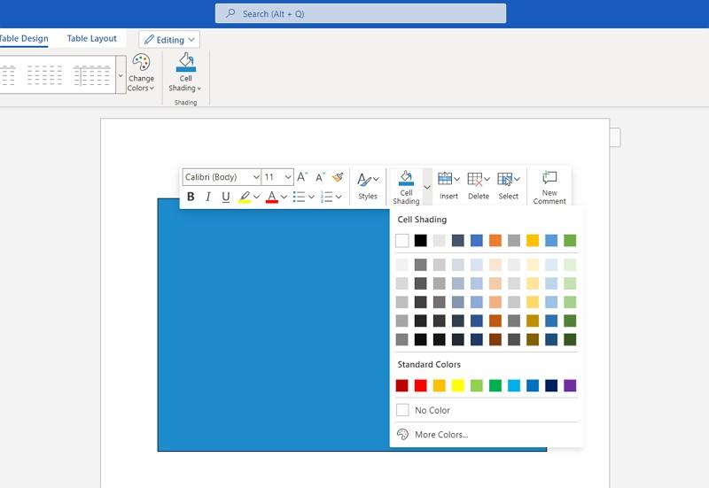 how to make a business card in Word