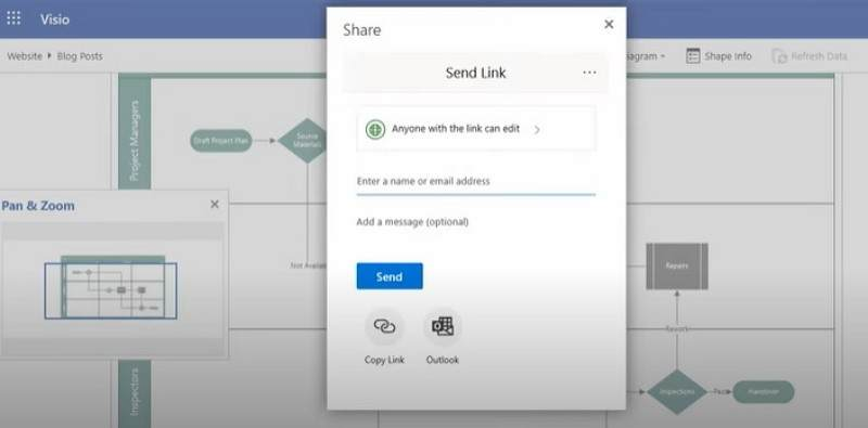 how to make a flowchart in Visio