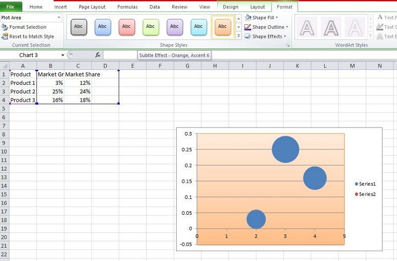 how to make a matrix in Excel
