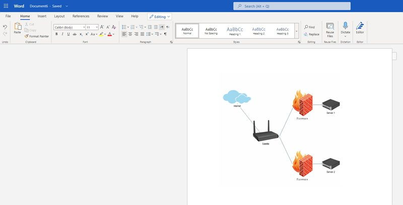 how to make a network diagram in Word