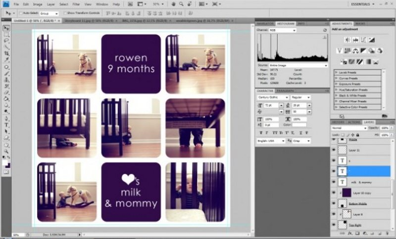 how to make a storyboard in Photoshop