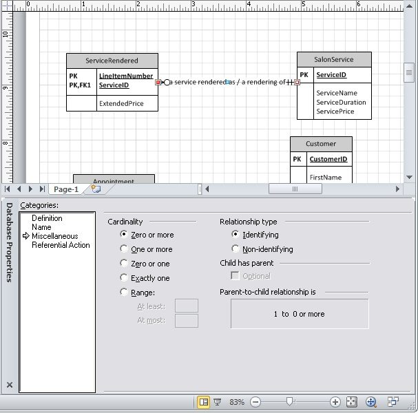 how to make an ER diagram in Visio