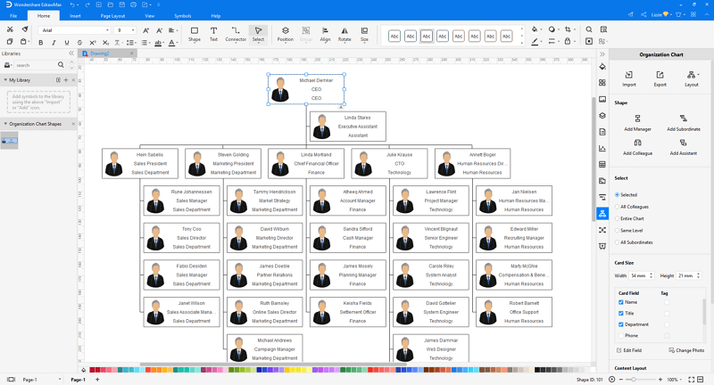 How to Make A org chart from Excel