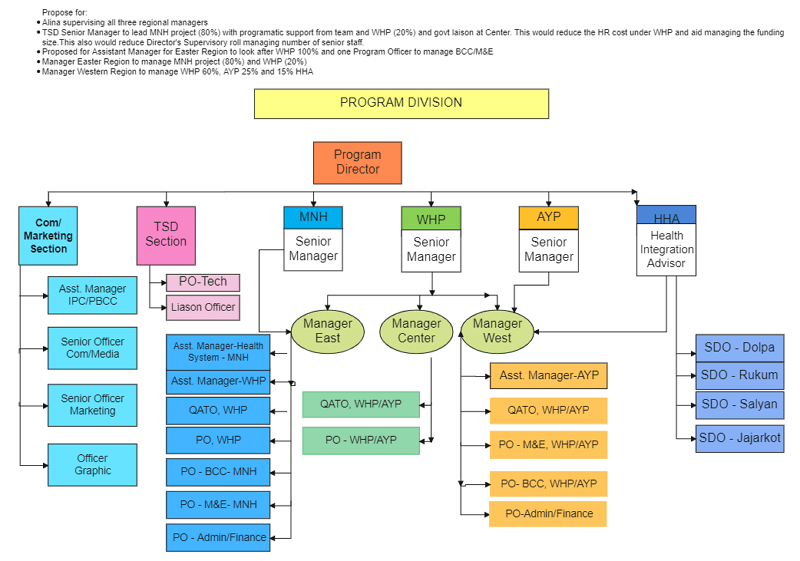 PPT Org Chart Template