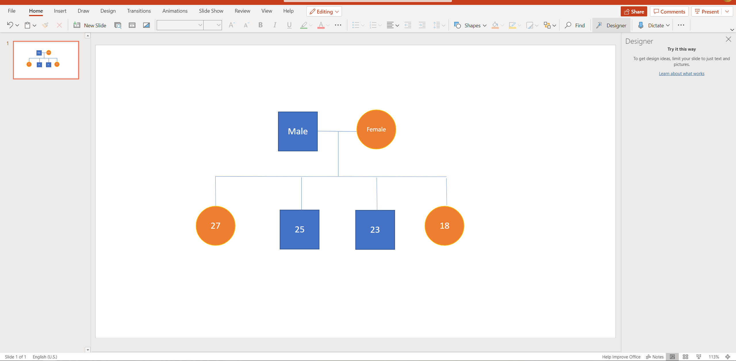 how to make a genogram on PPT