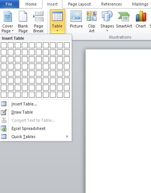 how to make a calendar in Word