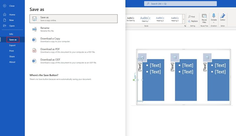 how to make a PERT chart in Word