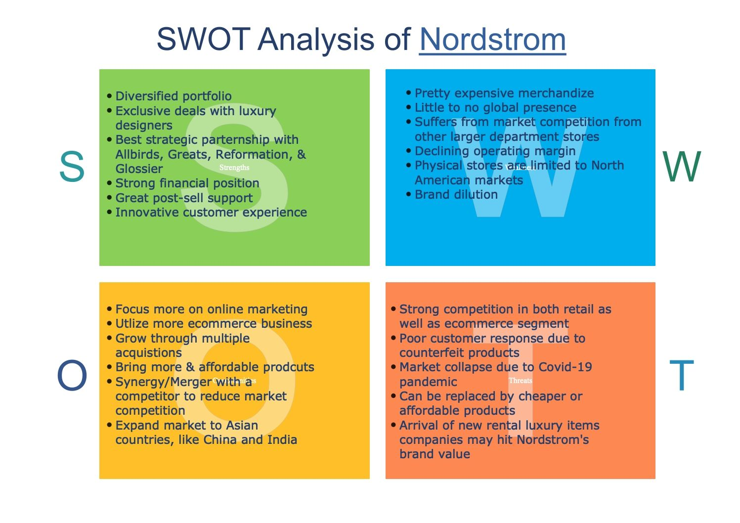 nordstrom-swot-analysis