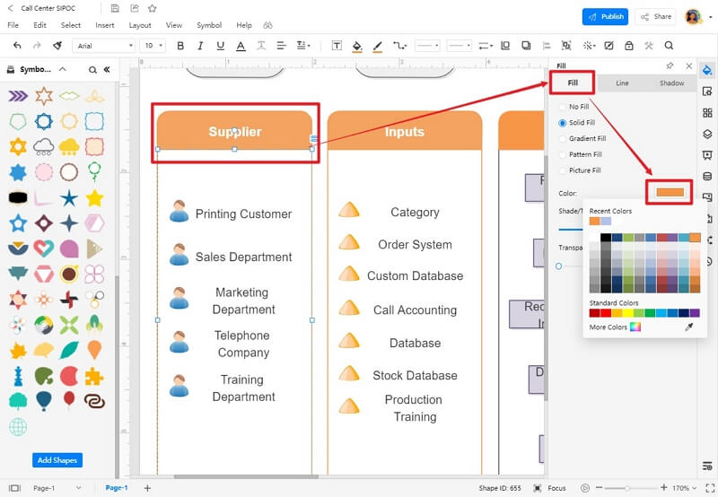 How to Create SIPOC Diagrams with EdrawMax Online