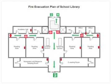 library evacuation plan