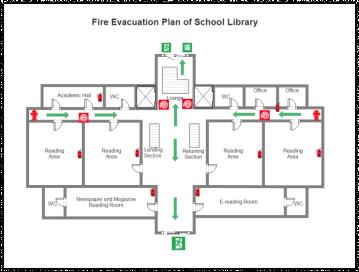 library evacuation plan