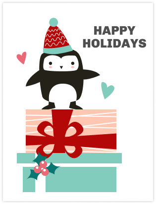 Christmas card template and example