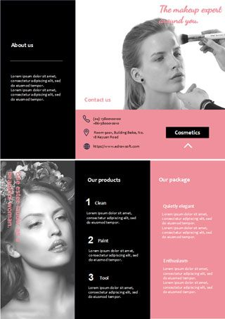 beauty salon brochure