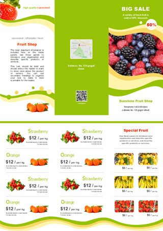 fruit shop sales brochure