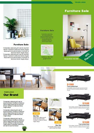 furniture sales brochure