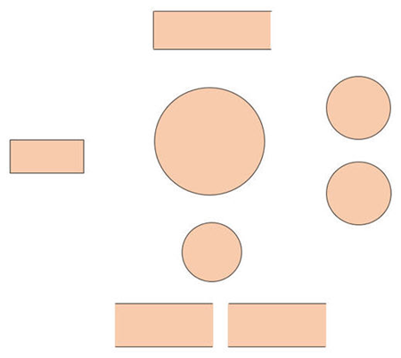 add shpaes to build the data flow diagram in PowerPoint