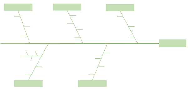 add lines on the fishbone diagram in Excel
