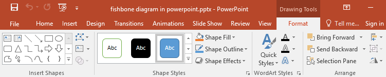 Format tab in PowerPoint
