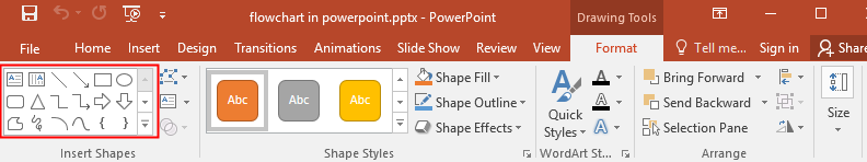 the shape gallery in PowerPoint