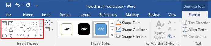 shape gallery in Word