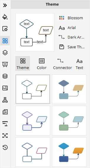 the Theme pane in Edraw Max
