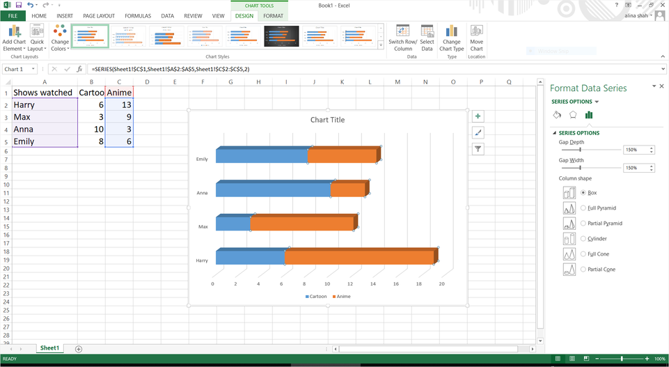 customize bar chart