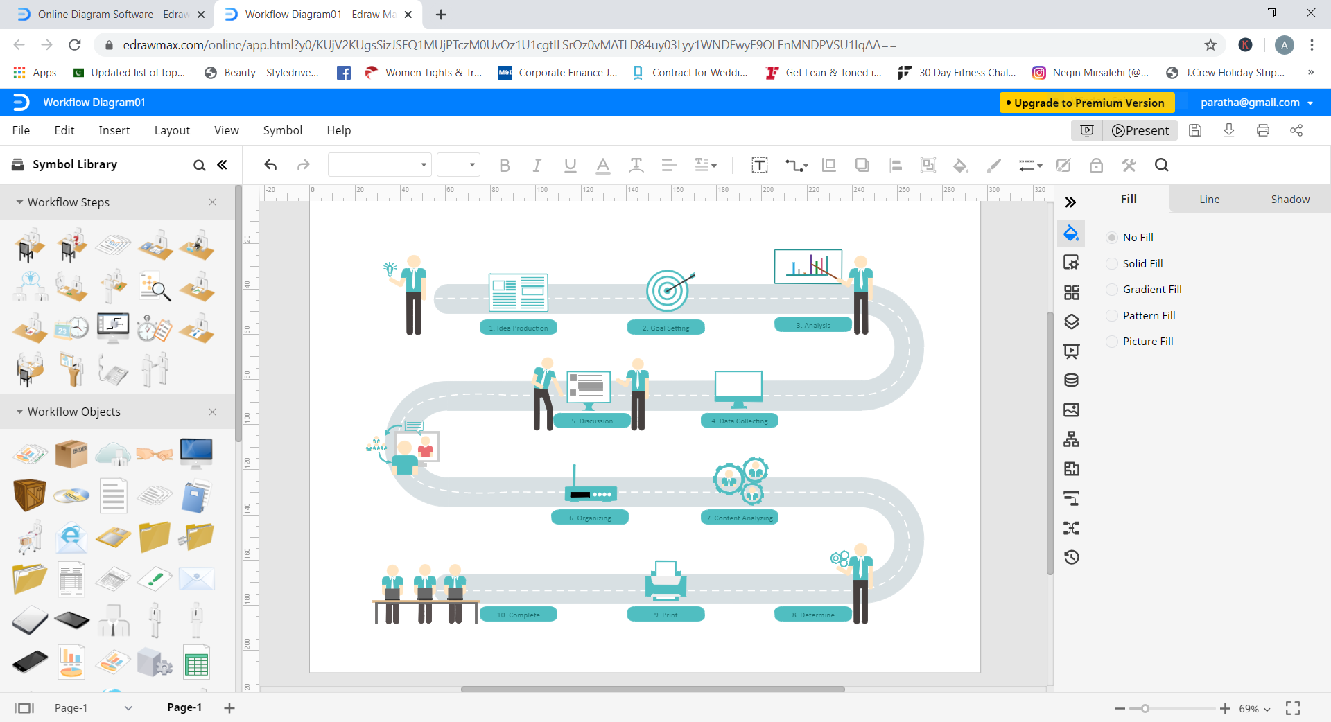 How to Create a Workflow Diagram Online - Edraw Max