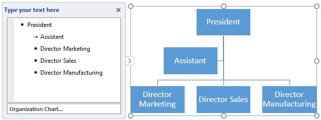 Añadir texto en el gráfico SmartArt en Word