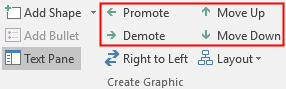 the options of moving shapes in Word