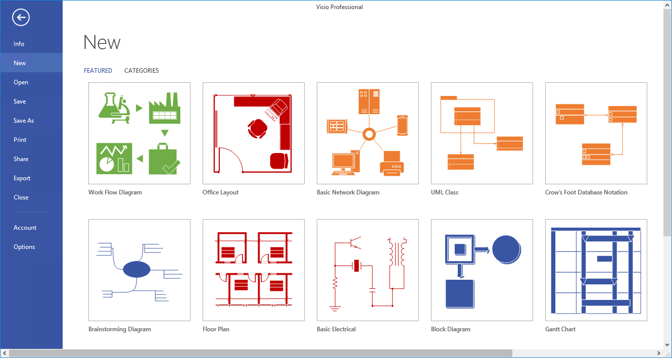 visio template gallery