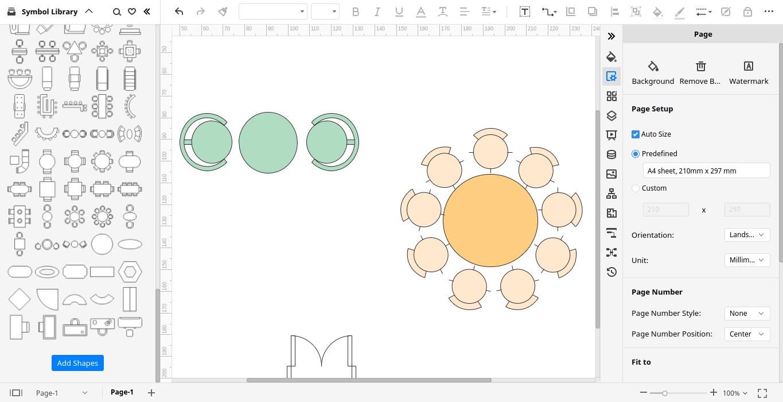 edrawmax make seating plan