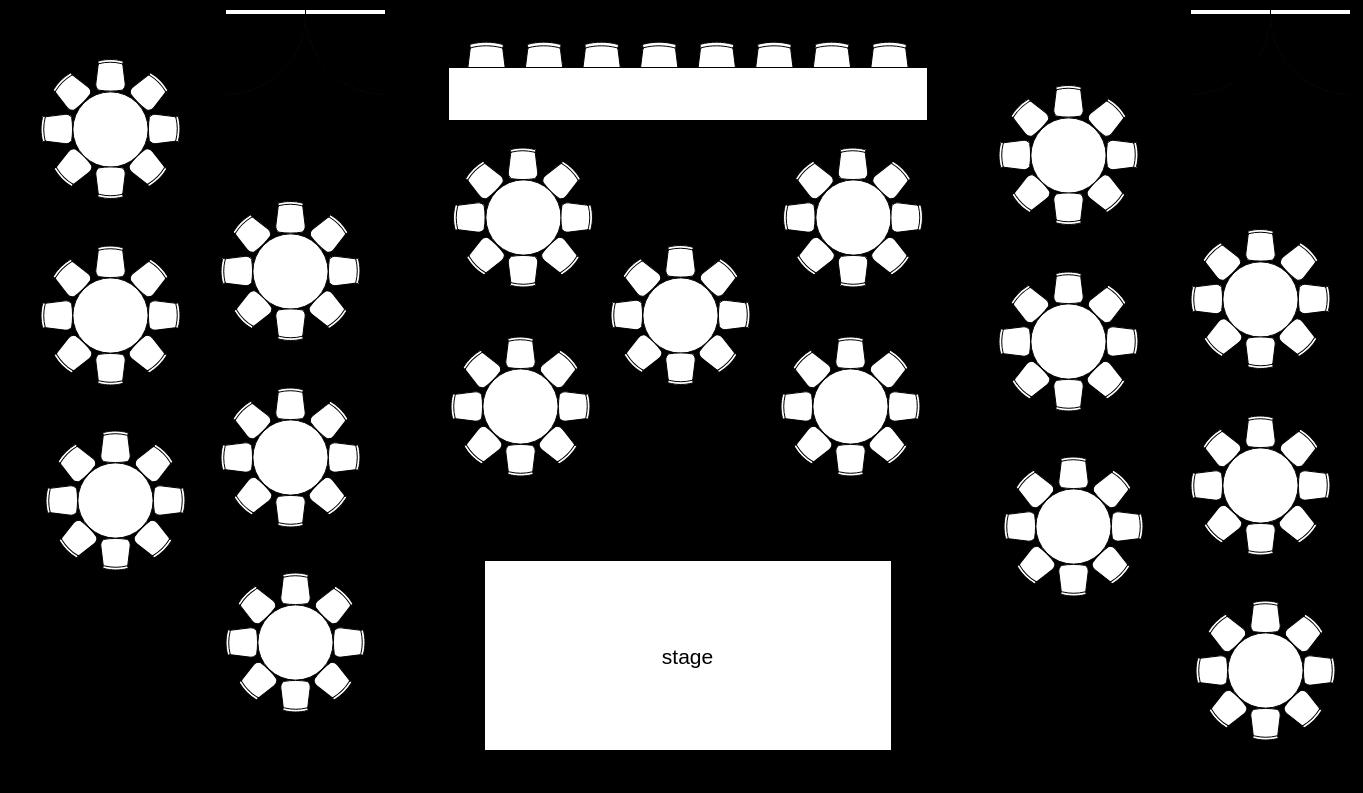 Event Hall Seating Plan