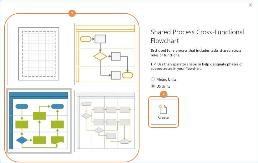 Create a Swimlane Diagram
