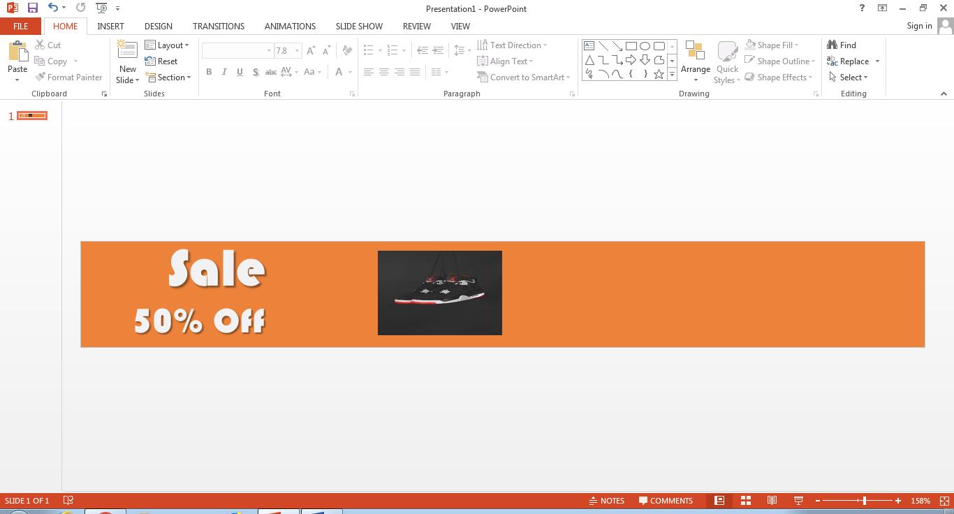 make banner in powerpoint