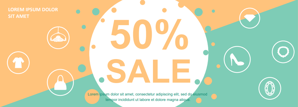 horizontal discount banner