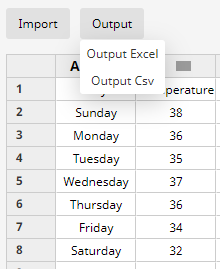 export chart data in Edraw Max