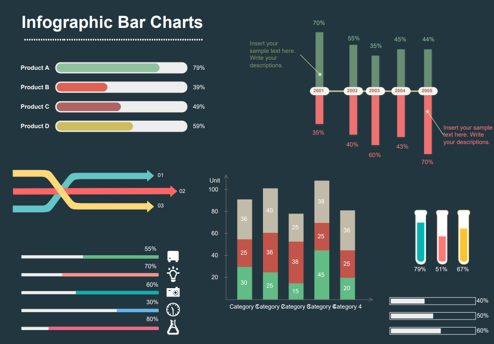 infographic bar chart template