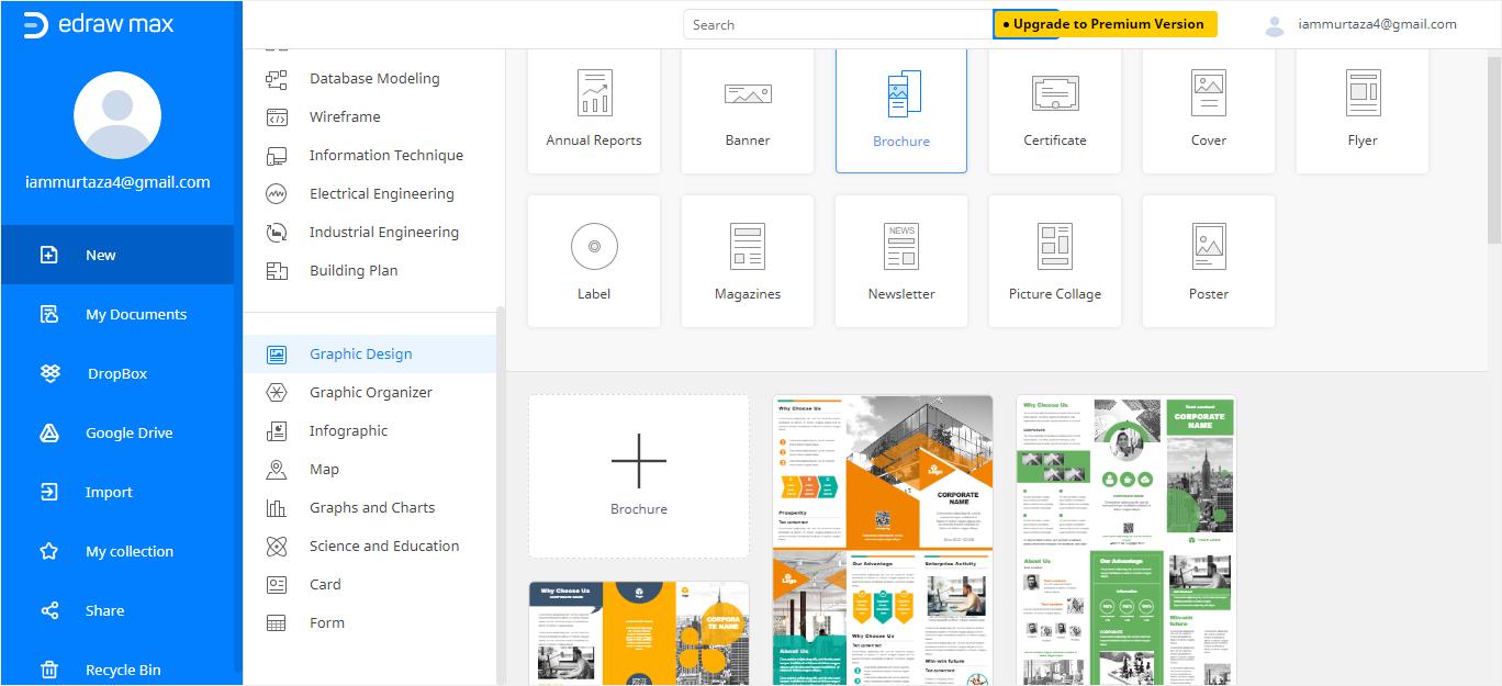 graphic design template